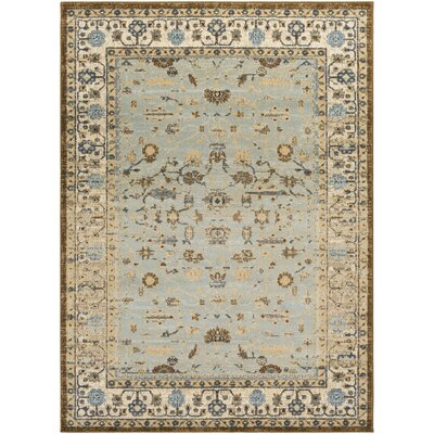 Netta Beige/Brown Area Rug Rug Size: Rectangle 8 x 10