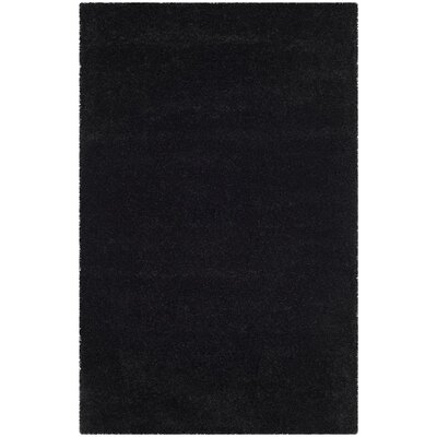Raphael Black Area Rug Rug Size: Rectangle 4 x 6
