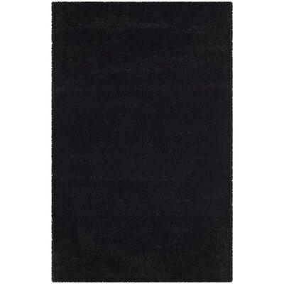 Raphael Black Area Rug Rug Size: 51 x 8