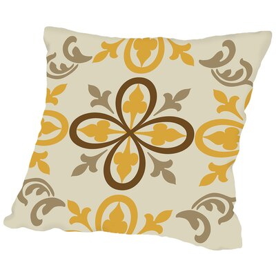 Oswald Gold Throw Pillow Size: 14 H x 14 W x 2 D