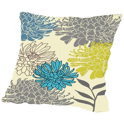 Peatman Flower Throw Pillow Size: 18 H x 18 W x 2 D