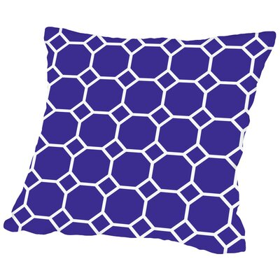 Raddison Navy Throw Pillow Size: 16 H x 16 W x 2 D