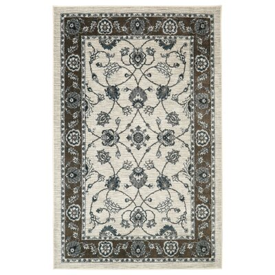 Millstone Cream/Brown Area Rug Rug Size: Rectangle 8 x 10