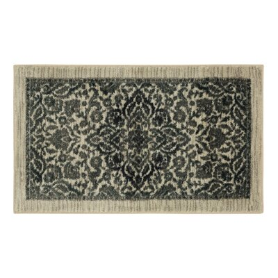 Millstone Gray and Cream Area Rug Rug Size: 26 x 310