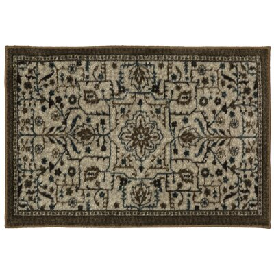 Millstone Brown/Cream Area Rug Rug Size: 18 x 210