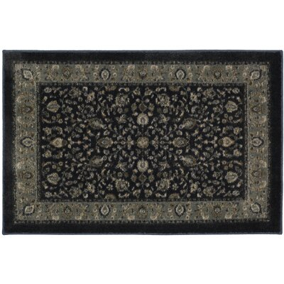 Millstone Navy Black/Gray Area Rug Rug Size: Rectangle 18 x 210