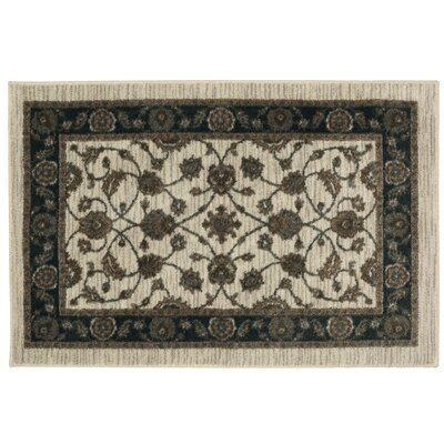 Millstone Cream and Black Area Rug Rug Size: 18 x 210