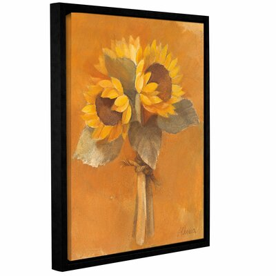 Sunflower Bouquet Framed Painting Print on Wrapped Canvas