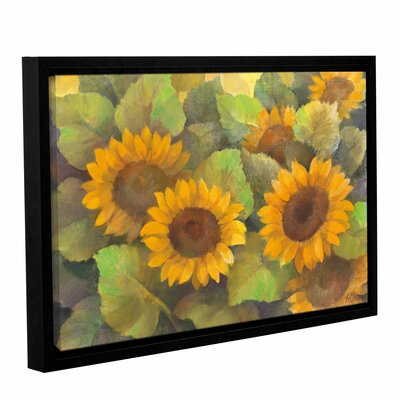 Lots of Sunflowers Framed Painting Print on Wrapped Canvas