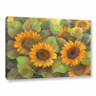 Lots of Sunflowers Painting Print on Wrapped Canvas Size: 12