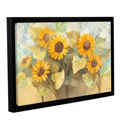Sunflower Garden Framed Painting Print on Wrapped Canvas