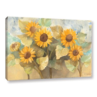 Sunflower Garden Painting Print on Wrapped Canvas