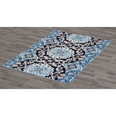 Montclair Blue Area Rug Rug Size: 5 x 8
