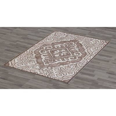 Nathaniel Beige Area Rug Rug Size: 5 x 8