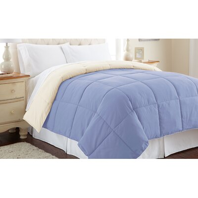 Down Alternative Reversible Comforter Size: Twin, Color: Blue/Cream