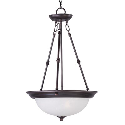 Pauline 3-Light Invert Bowl Pendant Finish: Oil Rubbed Bronze