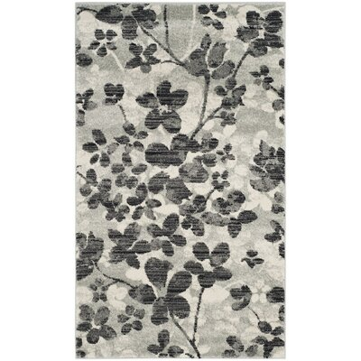 Pike Gray/Black Area Rug Rug Size: Rectangle 22 x 4