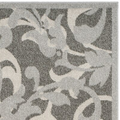 Neil Gray/Light Gray Indoor/Outdoor Area Rug Rug Size: 4 x 6