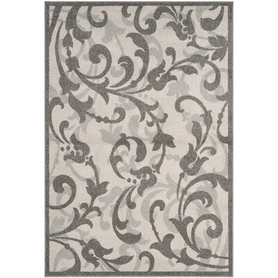 Neil Ivory/Gray Indoor/Outdoor Area Rug Rug Size: Rectangle 8' x 10'