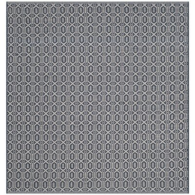 Parthena Hand-Woven Gray Area Rug Rug Size: Square 6