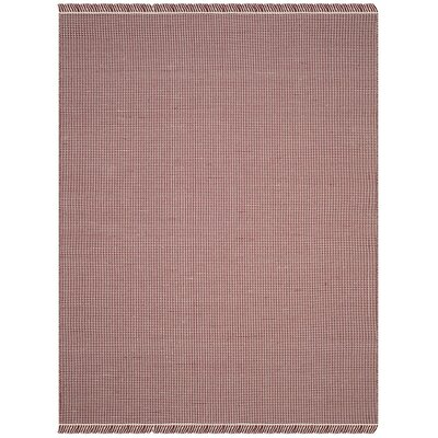 Parthena Hand-Woven Red Area Rug Rug Size: Round 6