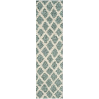 Unadilla Seafoam/Ivory Area Rug Rug Size: 86 x 12