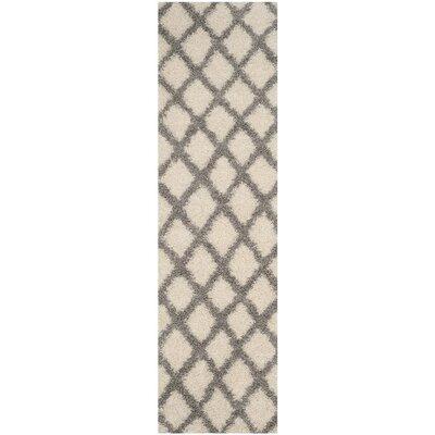 Unadilla Ivory/Gray Area Rug Rug Size: Runner 23 x 8