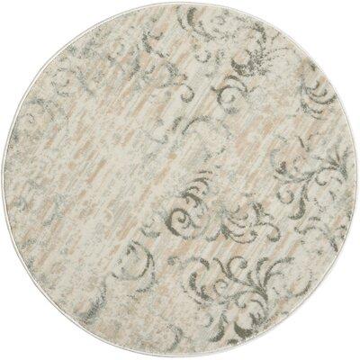 Culver Bone Area Rug Rug Size: Round 34