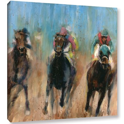 Run Painting Print on Wrapped Canvas