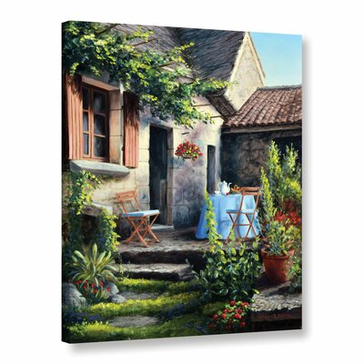 Tea on The Terrace Painting Print on Wrapped Canvas