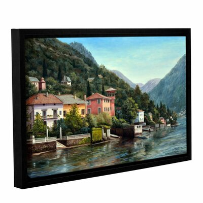 The Lenno Shore Framed Painting Print on Wrapped Canvas