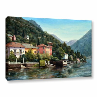 The Lenno Shore Painting Print on Wrapped Canvas
