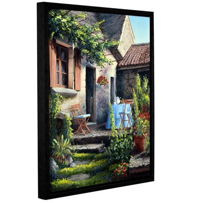 Tea on The Terrace Framed Painting Print on Wrapped Canvas