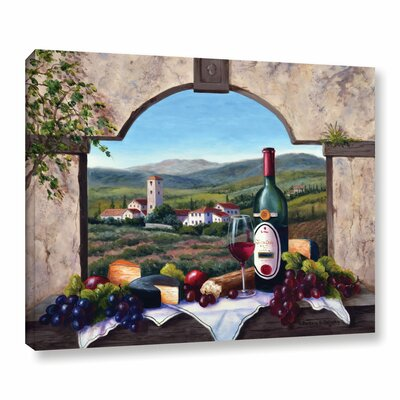 A Tuscany Vista Painting Print on Wrapped Canvas