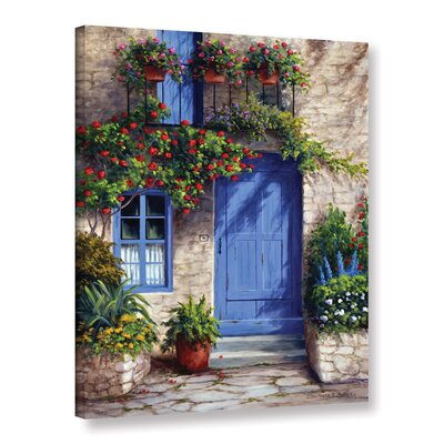 Provence Blue Door Painting Print on Wrapped Canvas CHLH7396 33266146