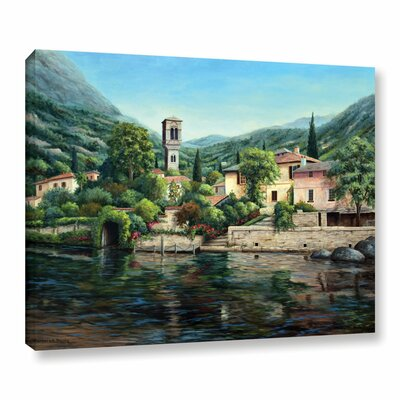 Symbol of the Lake Graphic Art on Wrapped Canvas