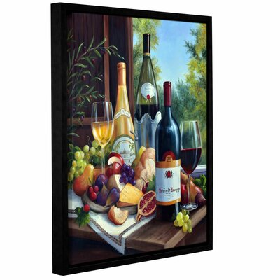 Still Life with Wines Framed Painting Print on Wrapped Canvas
