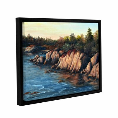 Carmel Sunset Framed Painting Print on Wrapped Canvas