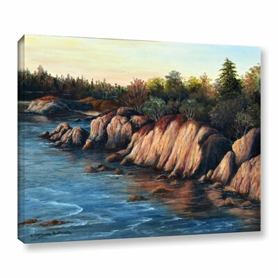 Carmel Sunset Painting Print on Wrapped Canvas