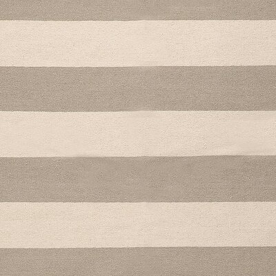 Atkins Gray Striped Area Rug Rug Size: 36 x 56