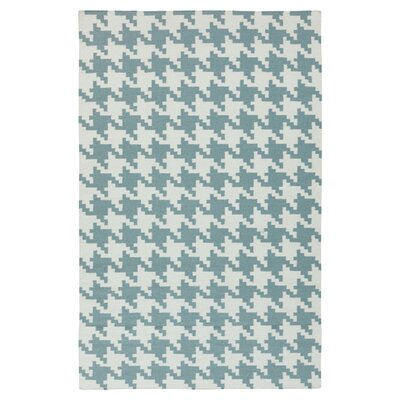 Atkins Ivory & Blue Accent Rug Rug Size: Rectangle 2 x 3