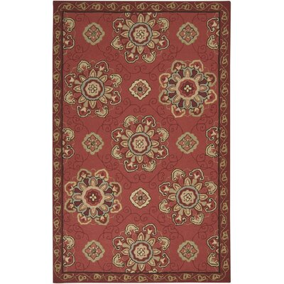 Schmitt Burgundy Rug Rug Size: Rectangle 2 x 3