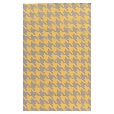 Atkins Elephant Gray & Quince Yellow Area Rug Rug Size: 2 x 3