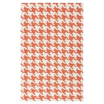 Atkins Rust/Ivory Area Rug Rug Size: Rectangle 36 x 56