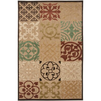 Carver Natural Outdoor Rug Rug Size: Runner 26 x 710