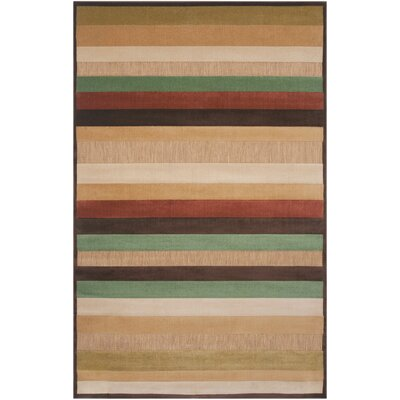 Carver Beige Outdoor Rug Rug Size: Rectangle 5 x 76