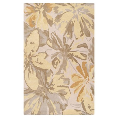 Millwood Beige/Gold Area Rug Rug Size: Rectangle 6 x 9