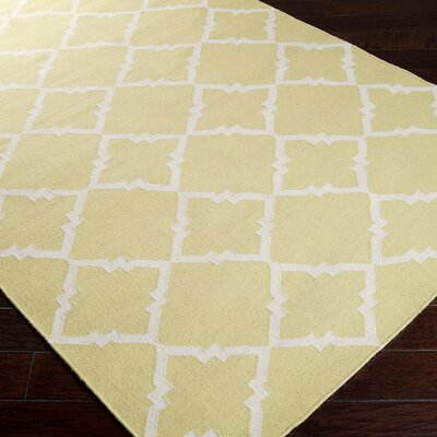 Atkins Tarragon/Ivory Geometric Area Rug Rug Size: Rectangle 5 x 8