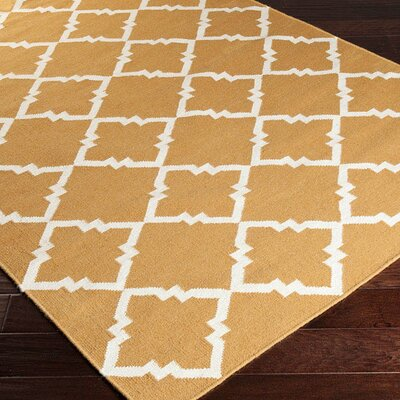 Atkins Cumin & Winter White Area Rug Rug Size: 2 x 3