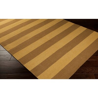 Atkins Caramel/Brown Sugar Striped Area Rug Rug Size: 36 x 56